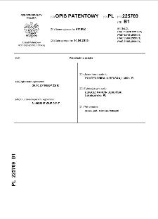 Przekładnia zębata : opis patentowy nr 225769