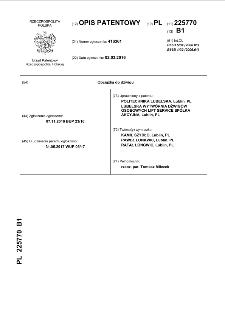 Obciążka do dźwigu : opis patentowy nr 225770