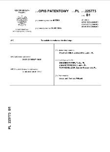 Narzędzie do walcowania skośnego : opis patentowy nr 225773