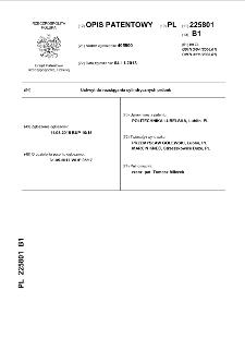 Uchwyt do rozciągania cylindrycznych próbek : opis patentowy nr 225801
