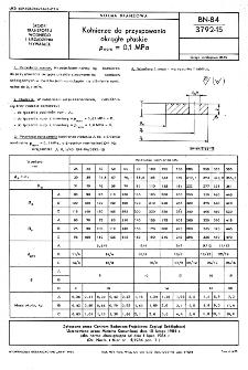 Kołnierze do przyspawania okrągłe płaskie p nom = 0,1 MPa BN-84/3792-15