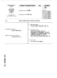 Sposób wytwarzania bezwodnego bioetanolu : opis patentowy nr 225803