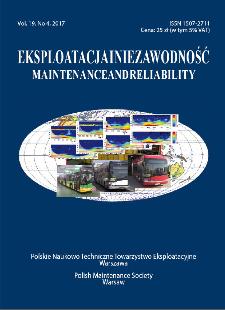 Eksploatacja i Niezawodność = Maintenance and Reliability Vol. 19 No. 4, 2017