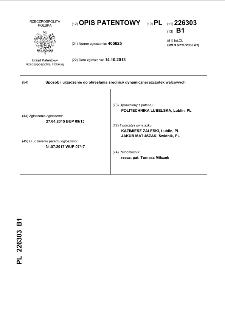 Sposób i urządzenie do określania średnicy dynamicznej szczotek walcowych opis patentowy nr 226303