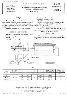 Rurociągi refulacyjne pogłębiarek ssących śródlądowych - Pontony BN-85/3798-04/01