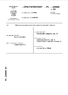 Układ do generowania plazmy nietermicznej ze wspomaganym zapłonem opis patentowy nr 226686