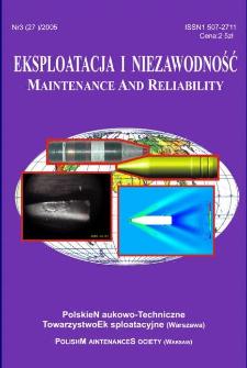 Eksploatacja i Niezawodność = Maintenance and Reliability Nr 3 (27)2005