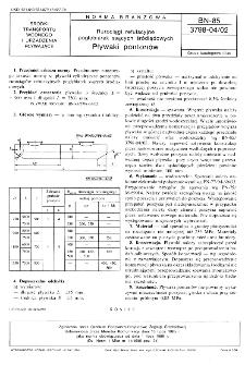 Rurociągi refulacyjne pogłębiarek ssących śródlądowych - Pływaki pontonów BN-85/3798-04/02