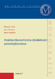 Analiza ekonomiczna działalności Przedsiębiorstwa