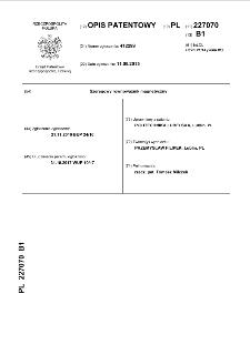 Szeregowy równoważnik magnetyczny : opis patentowy nr 227070