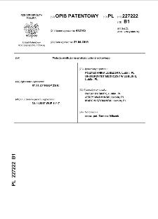 Metoda wydłużania protezy ucha środkowego : opis patentowy nr 227222