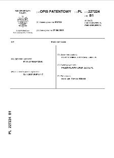Dioda termiczna : opis patentowy nr 227224