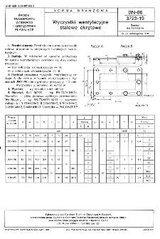 Wyczystki wentylacyjne stalowe okrętowe BN-86/3723-19