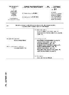 Sposób wytwarzania substytutu gleby służącej do rekultywacji wyrobisk z wykorzystaniem zużytych płuczek wiertniczych : opis patentowy nr 227865