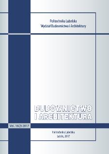 Budownictwo i Architektura Vol. 16(2)2017