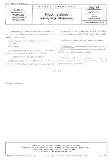 Kratki stalowe wentylacji okrętowej BN-86/3723-20