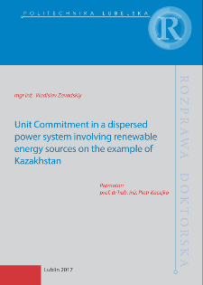 Unit Commitment in a dispersed power system involving renewable energy sources on the example of Kazakhstan