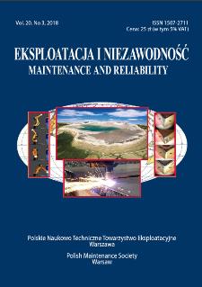Eksploatacja i Niezawodność = Maintenance and Reliability Vol. 20 No. 3, 2018