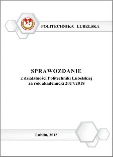 Sprawozdanie z działalności Politechniki Lubelskiej za rok akademicki 2017/2018