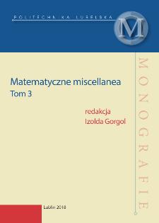 Matematyczne miscellanea. Tom 3