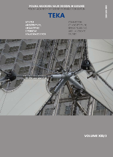 Teka Komisji Architektury, Urbanistyki i Studiów Krajobrazowych = Teka Comission of Architecture, Urban Planning and Landscape Studies. Volume XIII/3