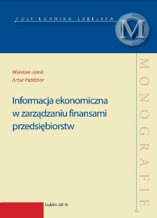 Informacja ekonomiczna w zarządzaniu finansami przedsiębiorstw