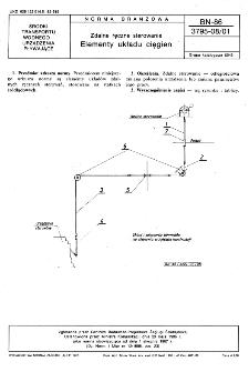 Zdalne ręczne sterowanie - Elementy układu cięgien BN-86/3795-08/01