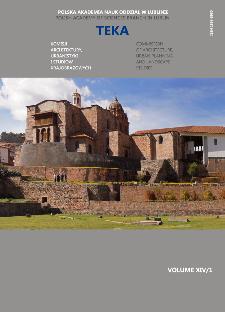 Teka Komisji Architektury, Urbanistyki i Studiów Krajobrazowych = Teka Comission of Architecture, Urban Planning and Landscape Studies. Volume XIV/1