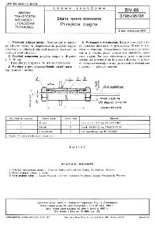 Zdalne ręczne sterowanie - Przejścia cięgna BN-86/3795-08/04