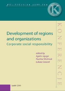 Development of regions and organizations : Corporate social responsibility