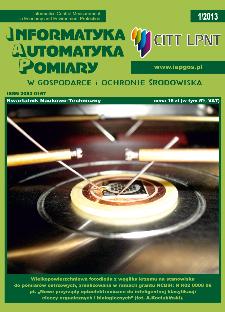 Informatyka Automatyka Pomiary w Gospodarce i Ochronie Środowiska 1/2013