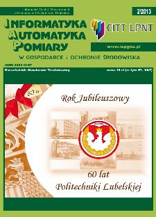 Informatyka Automatyka Pomiary w Gospodarce i Ochronie Środowiska 2/2013