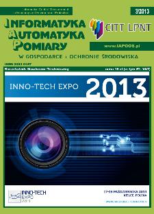 Informatyka Automatyka Pomiary w Gospodarce i Ochronie Środowiska 3/2013