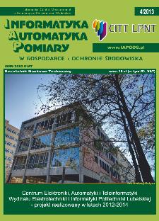 Informatyka Automatyka Pomiary w Gospodarce i Ochronie Środowiska 4/2013