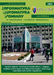 Informatyka Automatyka Pomiary w Gospodarce i Ochronie Środowiska 1/2014