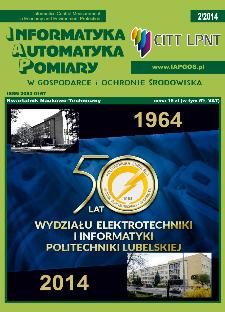 Informatyka Automatyka Pomiary w Gospodarce i Ochronie Środowiska 2/2014
