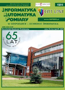 Informatyka Automatyka Pomiary w Gospodarce i Ochronie Środowiska 1/2015