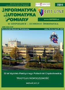 Informatyka Automatyka Pomiary w Gospodarce i Ochronie Środowiska 3/2015