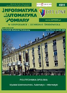 Informatyka Automatyka Pomiary w Gospodarce i Ochronie Środowiska 4/2015