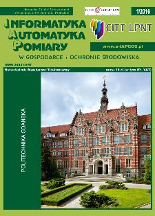 Informatyka Automatyka Pomiary w Gospodarce i Ochronie Środowiska 1/2016