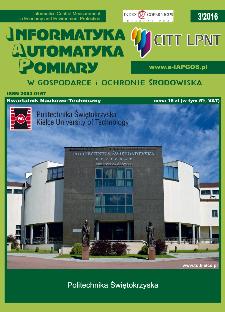 Informatyka Automatyka Pomiary w Gospodarce i Ochronie Środowiska 3/2016
