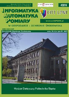 Informatyka Automatyka Pomiary w Gospodarce i Ochronie Środowiska 4/2016