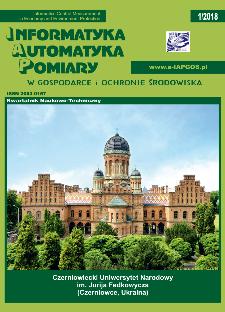 Informatyka Automatyka Pomiary w Gospodarce i Ochronie Środowiska 1/2018