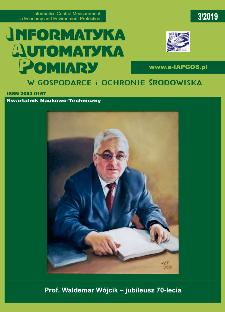 Informatyka Automatyka Pomiary w Gospodarce i Ochronie Środowiska 3/2019