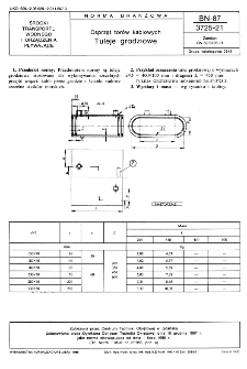 Osprzęt torów kablowych - Tuleje grodziowe BN-87/3725-21