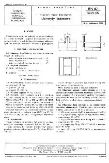 Osprzęt torów kablowych - Uchwyty taśmowe BN-87/3725-25