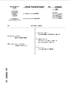 Ładowarka czołowa : opis patentowy nr 228622