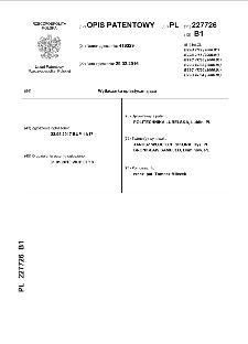 Wytłaczarka uplastyczniająca : opis patentowy nr 227726