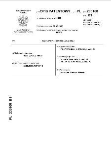 Kształtownik z materiału porowatego : opis patentowy nr 230168