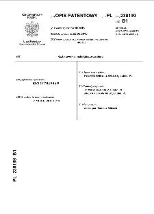 Kształtownik z materiału porowatego : opis patentowy nr 230199